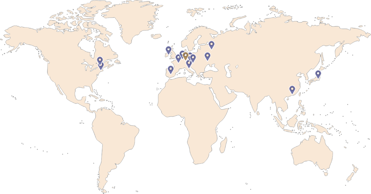 Weltkarte mit Einsatzorten | Matthias Würth